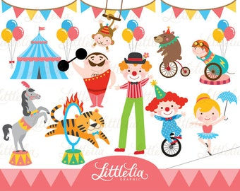 Circus/Carnaval digital clipart set - 14033 instant download