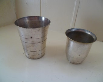 Silver Cups, mini planters, candle holders, egg cup