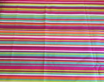 Modern yellow orange red sky blue white green lines tablecloth , Scandinavian design