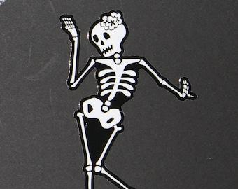 Day of the Dead Art Dancer car sticker. #76