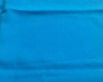 Turquoise polyester imitation silk dupioni fabric