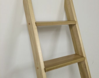 Finished Wooden Bunk bed ladder book shelf plant shelf loft ladder blanket ladder