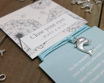 Dolphin Bracelet, Dolphin Jewelry, Dolphin Wish Bracelet, Dolphin Friendship Bracelet, Dolphin, Dolphin Gift, Ocean Life Bracelet Jewelry