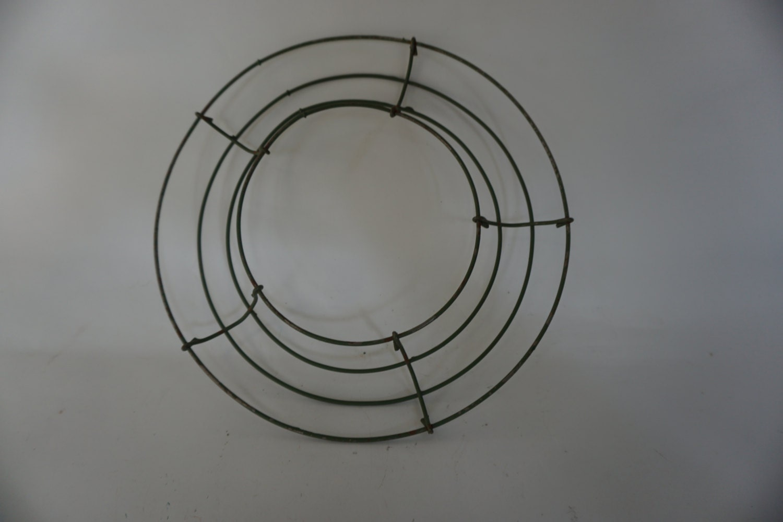 Round Metal WREATH RING, Wreath Form, 8 1/4\