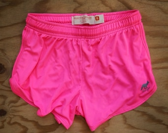 Runyon Womens Totally Hot Pink Performance Running Shorts Made In USA