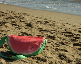 Summer is here! Hand made watermelon bag to always celebrate summer! / gift under 30 / bag for her / summer bag
