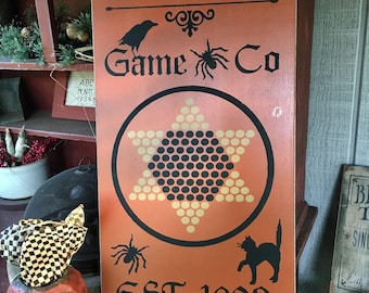 Halloween Chinese Checker Board, Halloween Gameboard, Halloween Board, Halloween Game,