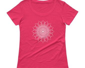 E-Valerate Mandala Ladies' Scoopneck HRT-Shirt