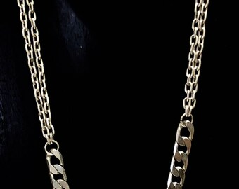Silver Boyfriend Link Necklace