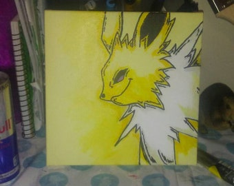 Jolteon pokemon painting