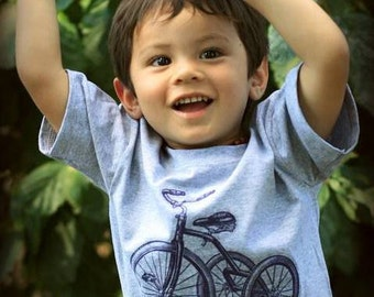 Child Vintage Trike Illustration Tee,  youth sizes 2T-4T,  xs, s, m, l, xl