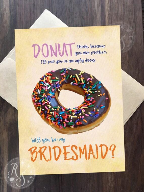 donut bridesmaid proposal card