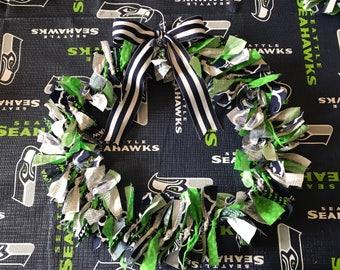 Seahawks Rag Wreath
