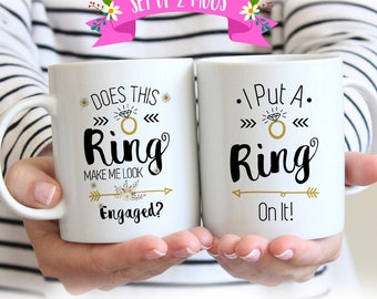 Engagement Gifts for Couple, Engagement Mugs, Engagement Mug Set, Engagement Mug, Engagement Gifts for Best Friend, Couple Mugs
