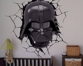 Darth Vader Star Wars color 3D Wall Decal Sticker Living Childrens Kids Room  71