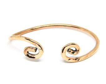 Copper Bracelet, Metal, Healing, Cuff, Women, Men, Teen, Mirror Finished, BLB 33,