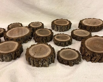 Black Walnut Wood Slices With Bark various sizes available