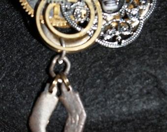 Hat Steampunk Gear PIN
