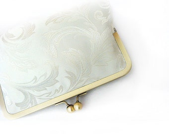 Luxury Glamour Bridal Clutch Wedding Bridesmaid Gift for Her Personalize Bride Mrs