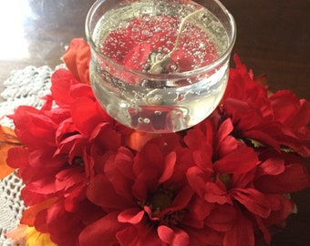 Center piece small red ring ideal for votive cup  252