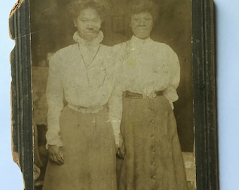Identified African American Mother and Daughter -Vintage Photo - Cabinet Card