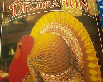 hallmark tom turkey honeycomb decoration