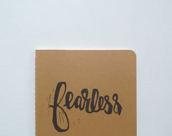 Fearless gifts, Bestie gift, Courage Be brave journal, Feminism gift, Gifts for women friends, Best friend gift ideas, Moleskine notebook