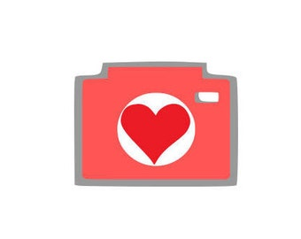 Valentine_camera with heart svg,dxf, png,photography,camera, shapes, love, heart