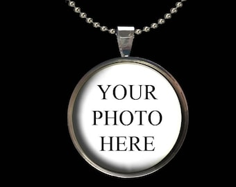 Custom Photo Pendant - 1 Inch Circle - Glass Image Pendant with Necklace