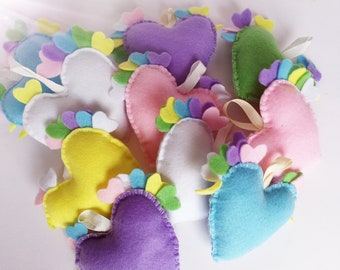 Felt Chicken Hearts-Easter heart-Handmade