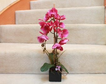 Silk Floral Arrangement- Purple Orchid (S18-51)