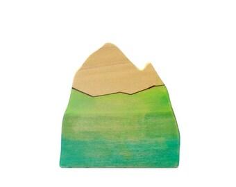 wood mountain, wooden toys, waldorf toys, waldorf nature table, mountain figurine