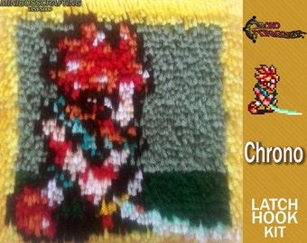 Chrono Trigger: Chrono - Latch Hook Kit - DIY Latch Hook 8.5*8.5 Inches
