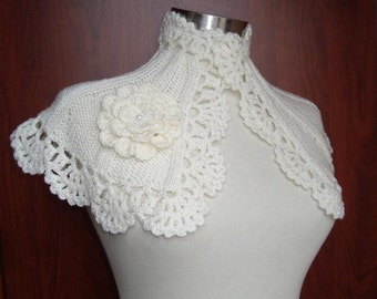 Christmas Grace Kelly Ivory  Bridal Capelet - Any Season -
