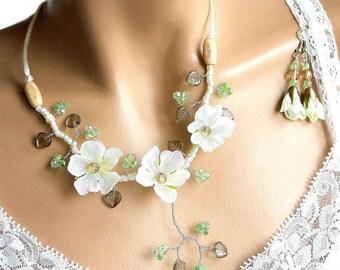 Artificial white Cherry Blossom Spring set