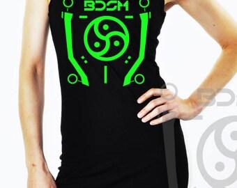 BDSM Tron Cyberpunk Cybergoth Neon Dress