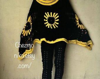 Xxl crocheted poncho
