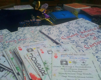 INK SPLATTER PSYCHIC Deck - Playing Cards for Psychics! Give Psychic Readings Now! Simple to Use & Master! Professional Psychic Cards