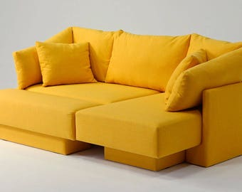 Mini-sofa, modular sofa for small spaces. Day-bed, guest bed, Lounger, expandable