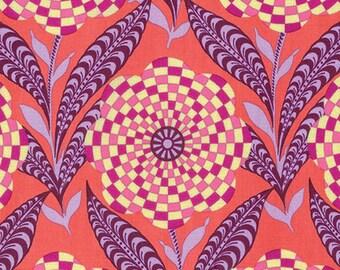 Amy Butler Eternal Sunshine Zebra Bloom in Persimmon cotton quilt fabric - fat quarter, Amy Butler fabric