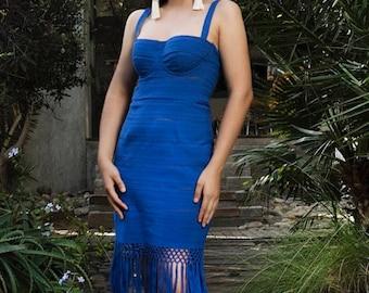 Bustier fringe dress