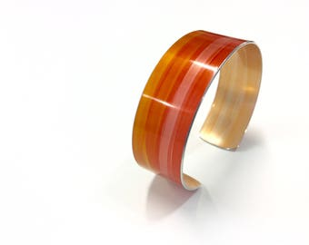 Burnt Orange 20 mm Anodised Aluminium Cuff