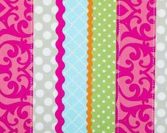 Multi Color Stripe Fabric -  100% Cotton Quilting Apparel Crafts Home decor