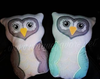 Handmade Washable Fleece Owl with FREE optional Personalization! Bonus pocket on backside perfect for gift cards, notes & more! Great gift!