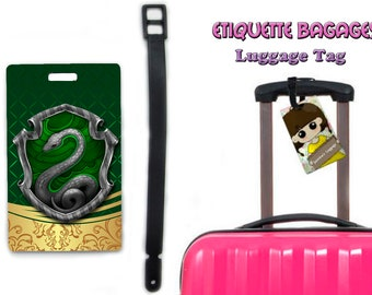 harry potter slytherin-  #1-039 - luggage tag name