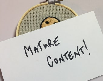 Tiny Penis - Mature content - Handmade Embroidery