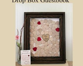 guestbook drop box wood heart guestbook wedding guest book alternative wood