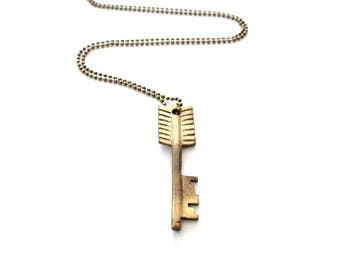 Arrow Necklace . layered and long . follow your arrow necklace . long layered necklace . vintage arrow key necklace vintage keys old keys