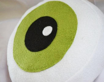 Ominous Green Eyeball Pillow