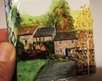 Countersett village Slate Coaster